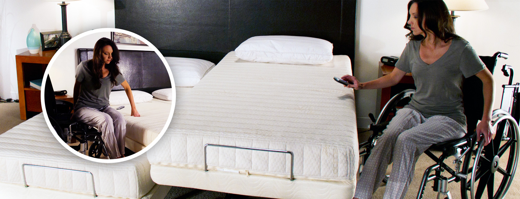 Transfer Master beds are desigend to allow for easy transfer from wheelchair to bed.