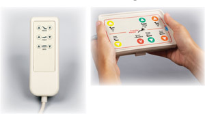 Illuminated hand control for hospital bed