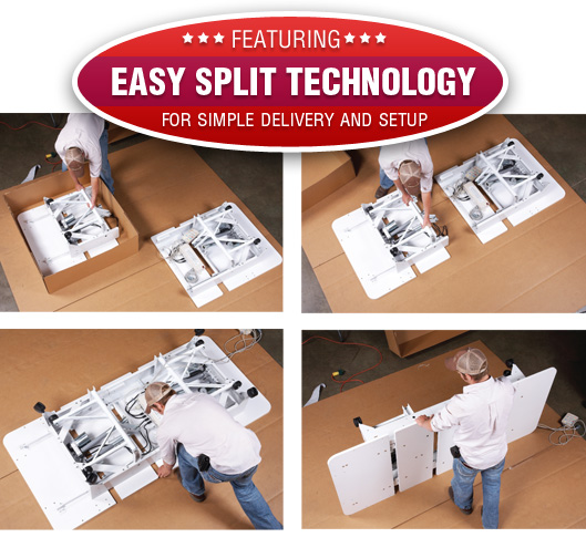 Featuring Easy Split Technology for Simple Delivery and Setup